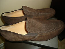 NIB BALLY HAVANNA-NEW-FO/112 CHOCOLATE AW11 KID PERFORATED SHOES sz 12