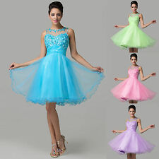 CHEAP !! Short Mini Dress Formal BALL GOWN Party Evening Bridesmaid Prom Dresses