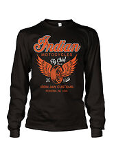Indian Motorcycles Big Chief vintage retro Long Sleeve t-shirt