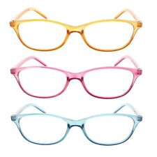 4 PACK READING GLASSES WOMENS TRANSLUCENT COLORFUL READERS