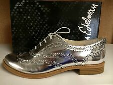 Sam Edelman Jerome Women's Wingtip Oxfords Loafers Lace Up Shoes Silver or Gold