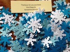 100 FROZEN white blue card 220gsm snowflakes confetti table decorations crafts