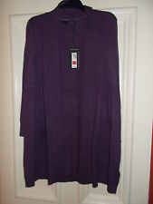MARKS AND SPENCERS 100% CASHMERE LONGLINE CARDIGAN ''BLUEBERRY'' BNWT  RRP £129