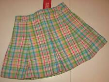 NWT Gymboree Happy Rainbow Pastel Plaid Spring Cotton Skort Sz 6