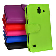 Side ID Wallet Leather Case Cover for Huawei Ascend Y550 550 + Screen Guard