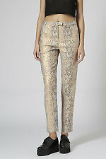 Topshop NEW Snake Jacquard Cigarette Pants Trousers RRP £42 Size 4 to 16