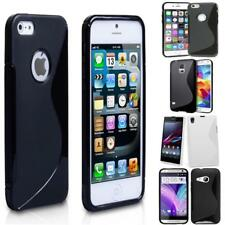 Silicone S-Line TPU Rubber Gel Wave Thin Grip Protective Case Cover For Mobile