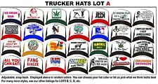 Huge Selection Funny Retro Trucker Hat Cap Snap back CHOOSE From 28 Styles LOT A