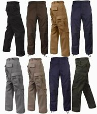 Solid BDU Pants Military 6 Pocket Cargo Army Fatigue  Polycotton Twill Rothco