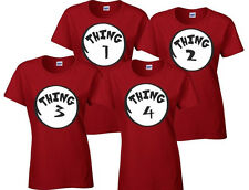 Dr Seuss Cat in The Hat Thing 1 Thing 2 shirts Womens Youth Thing One thing two