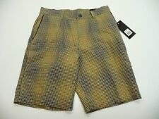 Ergo Mens Size 30 Brown & Black Plaid Bronco Walk Shorts New