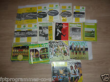 Norwich City  Home Programmes 1960/61 to 1979/80 .  Select from list