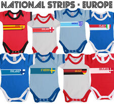 European Retro Strip Baby Grow Vest for Football World Cup,All Sports,Patriotism
