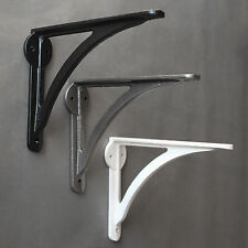 "7"" ANTIQUE CAST IRON HEAVY VICTORIAN SHELF WALL BRACKET BLACK 