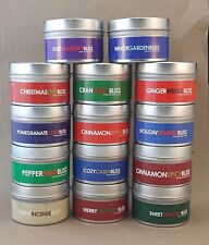 4 Oz Winter Themed Scented Vegan Soy Travel Tin Candles - Pick your scent