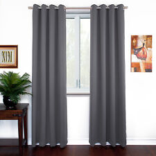 """NEW Thermal Insulated BLACKOUT Curtain Panels Grommet Top 55""""W x 84/90""""L, 2-PACK"""