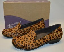 Dansko Women Olivia Leopard Print Calf Hair Comfort Loafer Flat Shoes 5 6 7 8 9