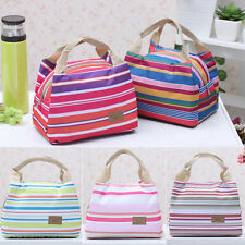 New Women's Insulated Tinfoil Thermal Picnic Lunch Bag Travel Carry Tote Handbag