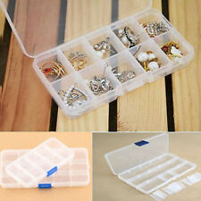 Plastic 15 Or 10 Slots Adjustable Jewelry Storage Box Case Craft Organizer Beads