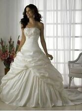 2015-2016 ivory and white wedding dress in stock size 6-16 Good price/quality AA