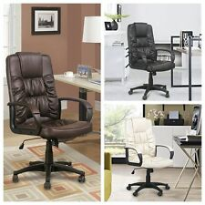 PU Leather Luxury Swivel Executive High Back Office Chair PC Computer Furniture