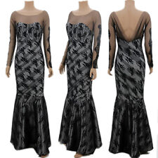 Long Lace Wedding Evening Formal Party Ball Gown Prom Bridesmaid Dress FreeShip