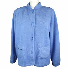 M&S Ladies Button up Bed Jacket Luxury super Soft fleece  sizes  12 to 22