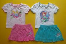 DISNEY PRINCESS or LITTLE MERMAID 24M 2T 4T 5T Shirt Top Skirt OUTFIT
