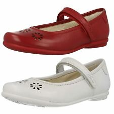 Girls Clarks Casual Leather Shoes Daisy Blush