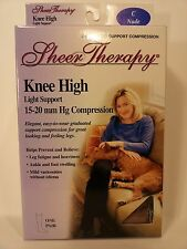 Compression Hose Hosiery Women 15-20 mmhg Knee High Light Support Therapy New