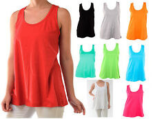 Women's Loose Fit Relaxed Sleeveless Solid Basic Tank Top Cotton Tee S/M/L