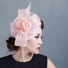 Lady wedding party racces fascinators handmade feather fascinating sagittate hat