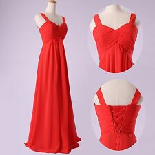 Maternity Long Red Evening Formal Party Ball Gown Prom Bridesmaid Dress Wedding