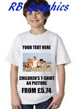 kids photo picture printed custom personalised t shirt create your own children