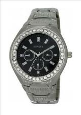 Henley Gents Mens Diamante Large Face Bracelet Watch. Choice of 4 Designs