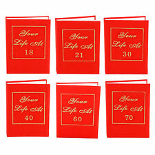 RED BOOK Photo Album Your Life At 21st, 30th, 40th, 50th, 60th or 70th BIRTHDAY