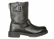 Motorcycle Highway 21 Primary Boot Black Leather RIDING BOOTS U.S. Sizes 7-14