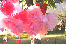 "12"" Hand Made Paper Flowers... Weddings, Showers, B-Days & more Made in the USA"