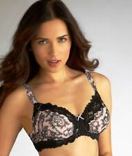 Whimsy by Lunaire 15213 Barbados Flocking Semi Demi Bra With Lace Trim  NWT $36