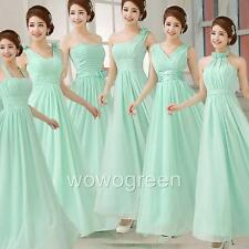 Mint Green Formal Evening Party Ball Gown Prom Wedding Bridesmaid Long Dress