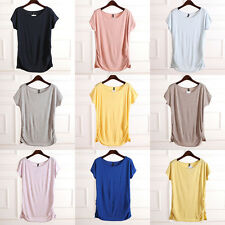 Korean super soft high-quality Women short-sleeved  income side casual T-shirt