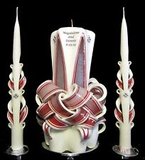 100% Custom Wedding unity candles YOUR colors, names & date & FREE shipping! WOW
