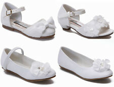 Girls Ivory Wedding Shoes Bridal Bridesmaid Shoes Infant Party Flats Sandals