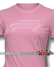 Hummer HUMVEE H1 Station Wagon T-Shirt for Women - Multiple Colors and Sizes