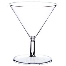 2 oz. Mini Martini Glasses Disposable Plastic 2-Piece Dessert Appetizer Tasting