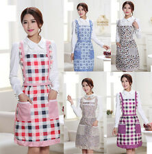 HOT Women Flower Apron With Front Pocket Home Kitchen Waterproof Cooking Dress