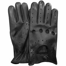 NEW RETRO STYLE QUALITY SOFT LEATHER MENS DRIVING GLOVES UNLINED CHAUFFEUR