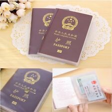 Clear Transparent Passport Cover Holder Case Organizer Card Travel Protector New