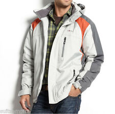 $150 Weatherproof Hydro Tech Water-Resistant Charcoal Orange New Men's Coat EA79