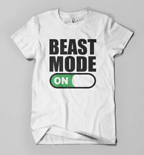Beast Mode ON T-shirt | Funny Parody Tee | Mens Girls Gym Workout Printed Top